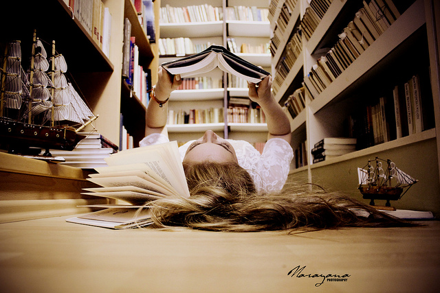 sweet-cute-moment-girl-reading-book-alone-lonely-fairy-floor-long-hair-boat-Favim.com-560273