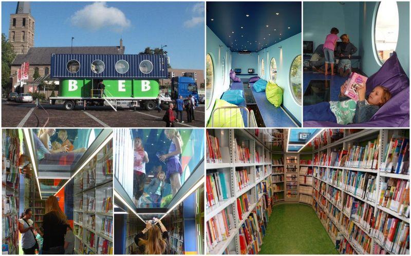 holandiya mobilna biblioteka