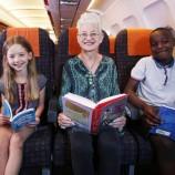 Авиокомпания стартира детска библиотека