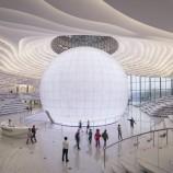 Футуристична библиотека с формата на око бе открита в Китай [галерия]