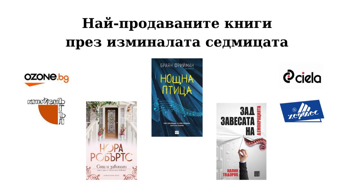 Най-продаваните - Аз чета_03.09.2020
