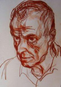 Константин Павлов, нарисуван от Светлин Русев