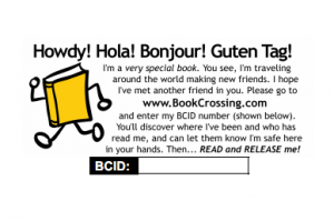 bookcrossing label
