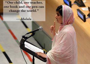 """""""Едно дете, един учител, една книга и една писалка могат да променят света"""" - Малала Юсафзаи (превод Надежда Розова)"""