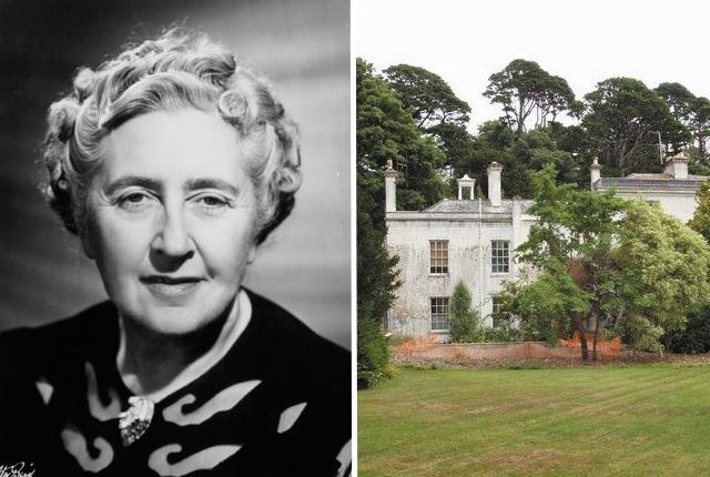"""Агата Кристи – Грийнуей Хаус • Девон, Англия Самата писателка я нарича """"идеалната къща"""". Тя купува боядисаното в кремави тонове имение и прилежащите му цветни градини, които се извиват покрай река Дарт, през 1938 г. за едва6000 паунда (около $ 200 000 днес). Особено любима за Агата е банята, където обича да прекарва доста време във ваната, измисляйки нови мистериозни истории за книгите си. Дори е имало поставка над ваната, където да си съхранява хартия, моливи и ябълки. Грийнуей Хаус вдъхновява авторката не само за романите й, но успява да я превърне и в безмилостен и пристрастен състезател в конкурсите за цветя. Имотът прибира толкова много награди, че Кристи съжалила конкуренцията и основала собствена награда – Купата на Агата Кристи– за да даде шанс и на другите"""