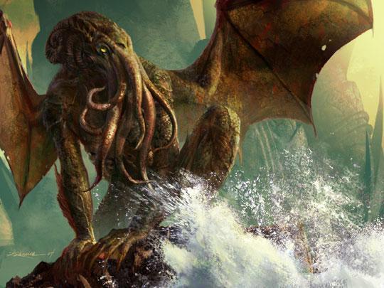 Спящият в морските дълбини Ктхулху е смесица между човек, октопод и дракон.