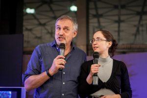 Юси Адлер-Улсен по време на Софийски международен литературен фестивал 2014, фотограф Фелия Барух