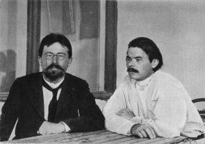 Чехов и Максим Горки през 1900 г.