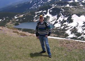 Елис Шуман при една от екскурзиите си в Рила